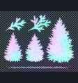 collection of christmas spruce trees vector image vector image