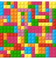 Colored plastic bricks seamless pattern vector image vector image