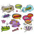 comic speech bubbles and splashes set vector image vector image