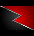 corporate abstract red and black background vector image vector image