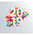 creative happy new year 2019 banner vector image vector image