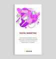 digital marketing innovative way advertisement vector image vector image