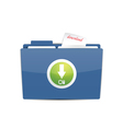 download folder icon vector image vector image