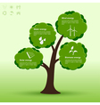 eco tree infographic vector image vector image