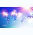 epidemic blue science background coronavirus vector image