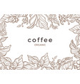floral template coffee tree bean sketch frame vector image