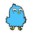 funny comic cartoon bird vector image vector image