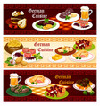 german cuisine restaurant banner for menu design vector image vector image
