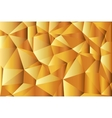 Gold-Abstract polygonal background Triangles vector image
