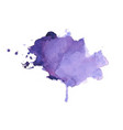 hand painted watercolor stain texture background vector image vector image