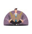 happy business man meditation concept vector image