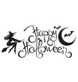 happy halloween text 2 vector image vector image