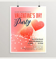 happy valentines day celebration flyer template vector image vector image