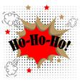 ho ho ho merry christmas greeting card in comic vector image