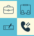 human icons set collection of briefcase vector image vector image