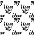 i love you calligraphy text seamless pattern vector image