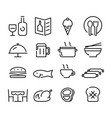 icon food and beverage vector image vector image