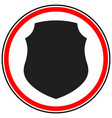 icon with classic shield shape protection vector image vector image
