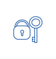 lock with key line icon concept lock with key vector image vector image