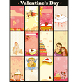 Love Card Vertical Set vector image vector image