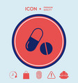 medicines pills - capsule and pill icon vector image vector image