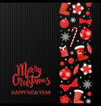 merry christmas and happy new year symbolic icons vector image