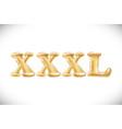metallic gold xxxl balloons golden letter new vector image