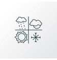 meteorology icon line symbol premium quality vector image