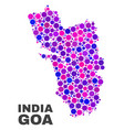 mosaic goa state map of spheric items vector image vector image