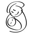 mother kid vector image