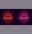 neon condom in red and pink color vector image