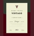 port wine label premium template set vector image vector image