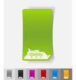 realistic design element cruise ship vector image