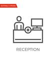 reception icon vector image