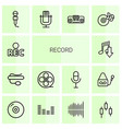 record icons vector image vector image