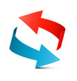 red and blue arrows vector image vector image