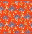 retro exotic flowers seamless pattern vector image