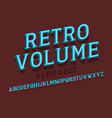 retro volume isolated english alphabet vintage 3d vector image