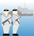 Sailors of the Wehrmacht during the Second World vector image vector image