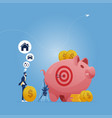 saving and investing money concept vector image vector image