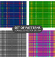 set 4 abstract seamless patterns vector image vector image