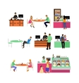 set of restaurant employees and visitors vector image