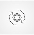 settings icon sign symbol vector image vector image