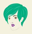 Short Straight Hair Woman Hair Style vector image