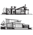 Sketch of architecture design vector image