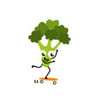 sports vegetable element - green fresh cheerful vector image vector image