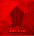 st davids day greeting card template vector image