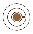 sticker coffee cup top view drink icon vector image vector image