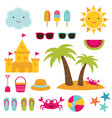 summer beach design elements vector image vector image