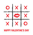 tic tac toe valentines day vector image